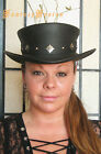 Steampunk Hat Stylish Adventurer Leather Standard SHORT Top Hat Cross Band