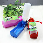 Dog Cat Portable Outdoor Travel Pet Drink Squeeze Feeding Water Bottle 250ml zzy