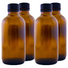 4 fl oz Amber Glass Bottle w/ Cone-Sealing Cap - Multi-packs with FREE SHIPPING!
