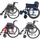 Folding Mobility Aid Handicapped Lightweight Transit Wheelchair Self-Propelled