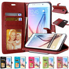 Flip Leather Wallet Holder Card Slot Stand Case Cover For Samsung Galaxy Phones