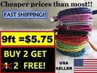 9ft BRAIDED USB Charger Cable Data Sync Cord for iPhone 5, 6, 7 Plus Gift