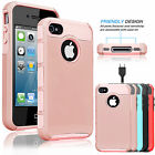 For Apple Iphone 4 4s Phone Cover Armor Shockproof Rugged Rubber Slim Hard Case