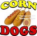 Corn Dogs DECAL (Choose Your Size) Food Truck Concession Vinyl  Sign Sticker