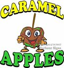 Caramel Apples Green DECAL (CHOOSE YOUR SIZE) Candy Food Truck Sign Concession