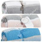 Little Dreams Boutique Baby Knitted Stripe Blanket 75 x 100cm