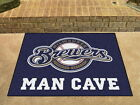 Milwaukee Brewers  Man Cave Area Rug Choose from 4 Sizes