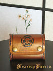 Steampunk Pirate Gold Leather Coins Wallet with Skull Design
