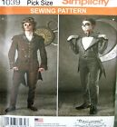 Simplicity Sewing Pattern 1039 Mens 38-44 Steampunk Joker Suit Costume