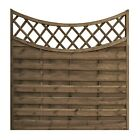 Wooden Garden Fence Fencing Panels Pressure Treated Concave Horizontal Weave 5ft