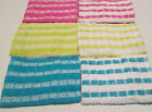5 PK  100% COTTON  TERRY LARGE SIZE TEA TOWELS MONO CHECK 3 COLOURS