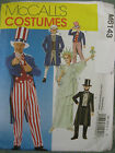 McCalls Sewing Pattern 6143 Kids 6-7 Sam Tails Suit Top Hat Liberty Costume