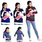 New Maternity Clothes Breastfeeding Tops Nursing Maternity Top Women T-shirt US