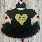 Daddy's Other Chick tutu romper Glitter Baby girl Daddy's princess Fathers day