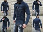 DIRTY WASHED VINTAGE YOUNG WILD FASHION SLIM FIT HERREN JEANSHEMD BIKER STYLE