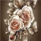 Luxury DIY 5D Diamond Butterfly Rose Lily Painting Cross Stitch Kit Home Decor
