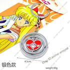 Sailor Moon Turn Spin Pendant Neclace Keychain Japan Anime Metal Cosplay Gift