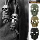 SKULL SHAPED CORD STOPPER x10 PACK CLOTHING END ARMY NAV BEADS MAP COUNTERS
