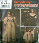 Simplicity Sewing Pattern 8192 Ladies 4-8 Medieval Dress History Corset Costume