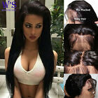 """4""""*5"""" silk top Loose Wave Straight lace wig 100% indian remy human hair wigs HF"""