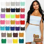 New Ladies Strappy Plain Camisole Bralet Vest Gym Sports Running Bra Crop Top