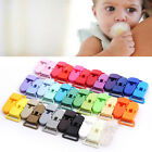 5PCS Plastic Pacifier Clips Soother Dummy Bib Suspender Paci Toy Holder