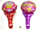 17'' Cupcake Happy Birthday air holder Foil Balloon kids toy Party Decoration