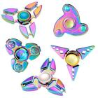 Fidget Hand Spinner Focus ADHD Autism Finger Gyro Toy High Speed Rainbow N5Q4
