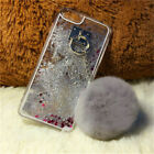 Bling Glitter Water Star Quicksand Soft Furry Fluffy Rabbit Fur Ball Case Cover