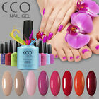 CCO UV Led Soak Off Nail Art Gel Polish Full Colour Top Base Coat Professional
