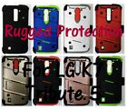 Rugged Case, Holster, Tempered Glass Screen Protector for LG Tribute 5, LG K7
