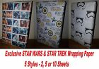 Exclusive STAR WARS or STAR TREK Wrapping Paper - Birthday Party Stormtrooper