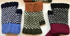 Knit Fingerless Multi-Color Hand Warmer Mitten Gloves Soft FREE SHIPPING NEW