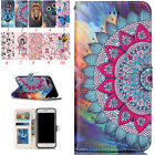 Luxury Painted Magnetic Flip Cover Stand Wallet Leather Case For iPhone & Huawei
