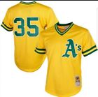 Mitchell & Ness Henderson Athletics Yellow Mesh Batting Practice Jersey A'S on Ebay