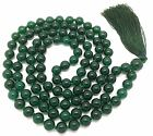 Green Jade Japa Mala Necklace with 108 beads + 1 larger guru bead