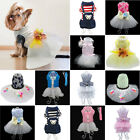 Dog Dresses Shirt Bowknot Pet  Cat Puppy Kitten Lace Dog Clothes For Small Dogs