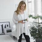 The White Company Lightweight Blanket Wrap Cashmere Wool Cardigan Poncho RP £130