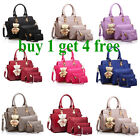 5pcs Set Luxury Women Leather Shoulder Bag Tote Messenger Bags Purse Handbag