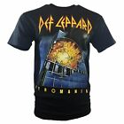 Mens Def Leppard Pyromania Full Color Graphic Print Band T Shirt, Black