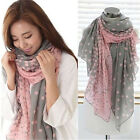 Pretty Long Soft Women Fashion Beach Big Chiffon Scarf Wrap Shawl Stole Scarves