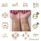 Bride Tribe Flash Temporary Tattoo Sticker Bridal Party Wedding Decor Team Bride