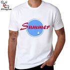 Men T-shirt 2017 Summer Blue O-neck Printed Cotton Casual Man Tees Short Sleeve
