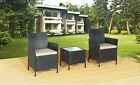 NEW GARDEN RATTAN FURNITURE SET TWO CHAIRS AND TABLE