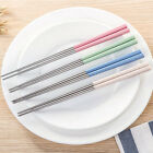 Two Pair Non-slip Household Stainless Steel Tableware Chopsticks Kitchen Tools