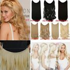 Secret Full Head Wire in Fake Human Hair Extensions Natural Invisible Headband