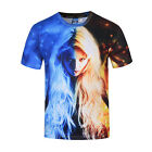 Summer 3D Multi Color Girl Print T Shirt Casual Short Sleeve Graphic Tee For Men