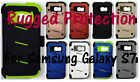 Rugged Case, Holster, Tempered Glass Screen Protector for Samsung Galaxy S7