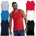 Men's VALUEWEIGHT ATHLETIC VEST Plain Tank Top Gym T Trainin