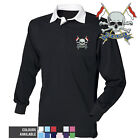 The Royal Lancers - Rugby Shirt Long Sleeve with Embroidered Badge